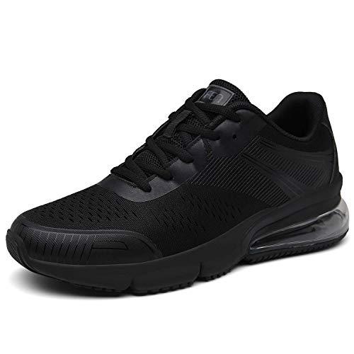 SOLLOMENSI Damen Herren Sportschuhe Laufschuhe Retwin Turnschuhe Straßenlaufschuhe mit Snake Optik Sneaker 40 EU C Schwarz