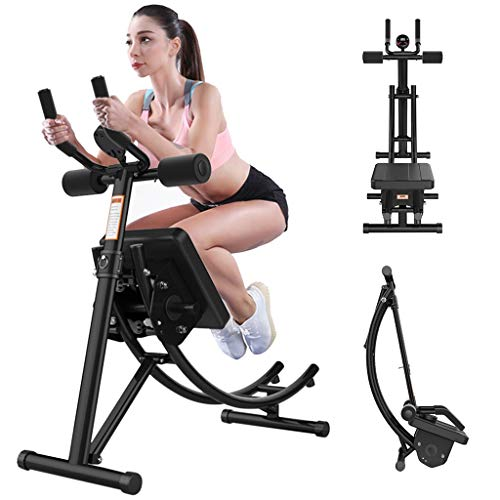 ab Machine,ab Workout Equipment for Home Gym, Foldable Fitness Equipment ab Trainer for Strength Training,Roller Glider Fitness Equipment, Beauty Waist Machine - U.S.shipping