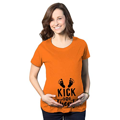 Crazy Dog T-Shirts Maternity Kick Or Treat Tshirt Funny...