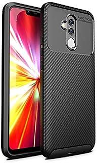 New style phone case Beetle Shape Carbon Fiber Texture Shockproof TPU Case for Huawei Mate 20 Lite(Black) (Color : Black)