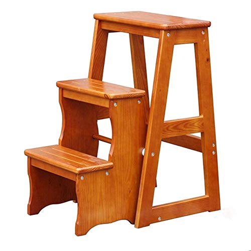 yjll opvouwbare trapladder 3 treden houten ladder/houten trapladder 3 treden ladderkruk / 22 4x11 2x25 2 inch