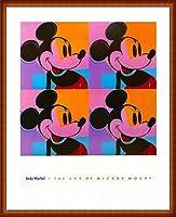ポスター アンディ ウォーホル ミッキーマウス 1982 額装品 ウッドハイグレードフレーム(ナチュラル)