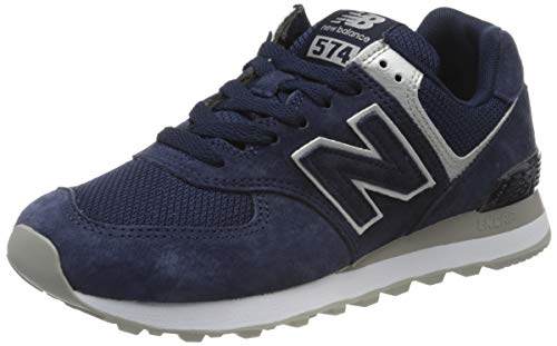 New Balance Damen 574v2 Sneaker, Blau (Navy/Grey Ey), 39 EU
