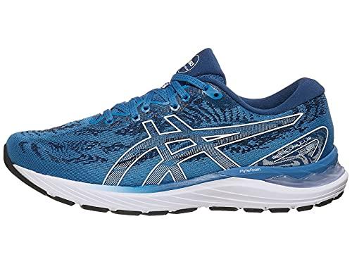 ASICS Men's Gel-Cumulus 23 Running Shoes, 10.5M, Reborn Blue/White