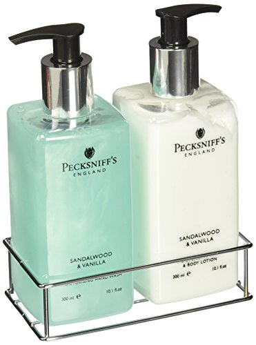Pecksniffs Sandalwood and Vanilla Hand Wash and Body Lotion Set-10.1 fl.oz