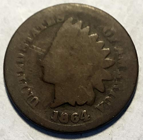 1864 P Indian Head C/N Penny Cent AG