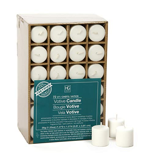 Hosley Unscented White Votive Candles