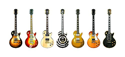 George Morgan Illustration Gibson Les Paul Gitarre Panorama drucken. 7 berühmte Gibson Les Paul