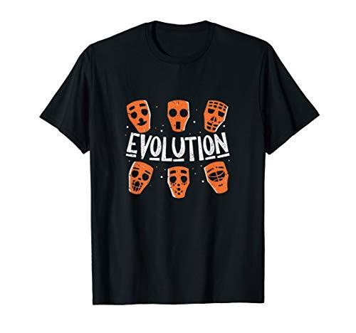 Eishockey Torwart Evolution Masken Sport Torhüter Geschenk T-Shirt