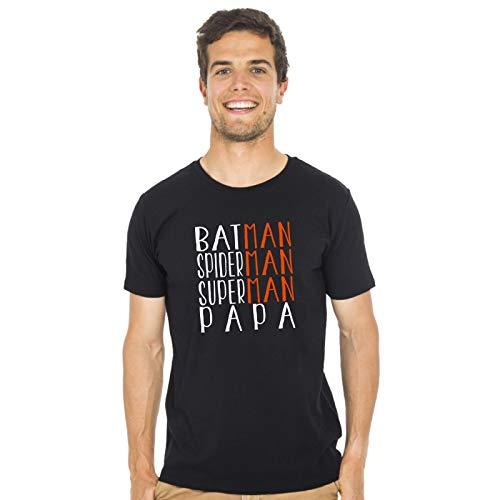 We Are Family Tshirt Humour Homme - Superman Batman Spiderman Papa - Produit imprimé dans Notre Atelier à Toulouse