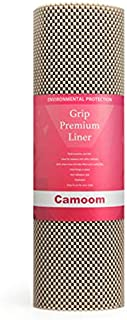 Camoom Non-Adhesive Thick Shelf Liner, Non-Slip Drawer Liner, Protect and Hold Things in Place(Taupe, 17.5-Inch x 20-Feet)