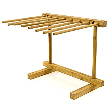 Pasta Rack, Pasta Drying Rack Collapsible Easy Storage, Made of Organic Bamboo By Intriom Bamboo Collection