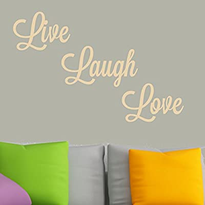 """Decal the Walls """"Live/Love/Laugh"""" Wall Decal Graphic"""