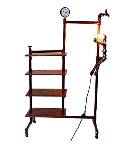 HCYY Industrial Viento Hierro Tubo Perchero Perchero lámpara de pie Oficina en casa Adornos Decorativos Retro Europeos