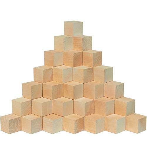 Unfinished Wood Craft Cubes 1-1/2 inch,...