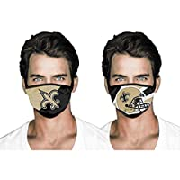 hlhhing Football Replaceable Face Cover Reusable Face for Men (2pcs) New Orleans Saints 23