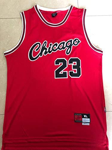 Unknow Nueva Temporada Bulls # 23 Basketball Jersey Ball Clothing Gift T-Shirt Basketball Vest Ball Jersey Fans Jersey Chaleco Deportivo (Rojo) - XL-227-rojo_XXL