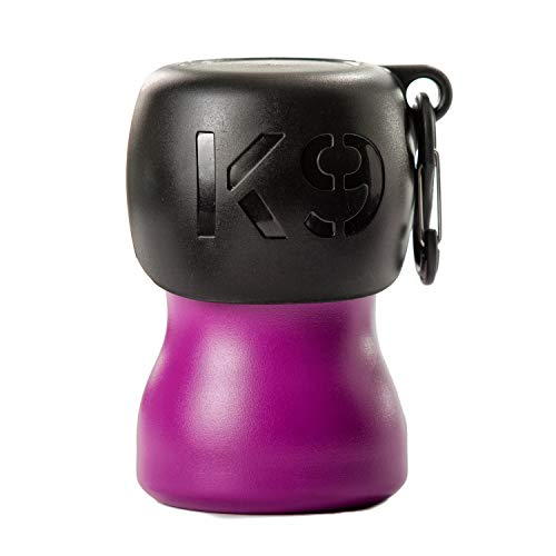 H2O4K9 Stainless Steel K9 Water Bottle (9.5oz, Matte Purple)
