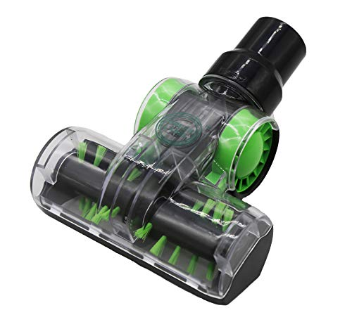 Green Label Cepillo Mini Turbo Universal (32-35 mm) para Retirar Pelo de Mascota de Tapicería. Compatible con Hoover, Dirt Devil, Samsung, Electrolux, Panasonic, Kirby, etc.