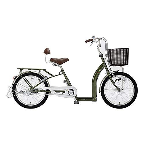 サギサカ(SAGISAKA) こげーる 20型 シニア向けサイクル 自転車 漕ぎやすい 9011 グリーン