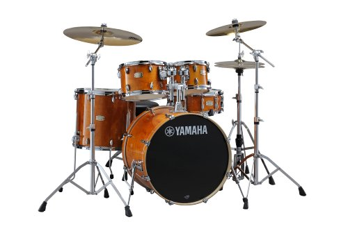 """Yamaha Stage Custom Birch 5pc Drum Shell Pack - 20"""" Kick, Honey Amber"""