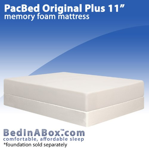 BedInABox PacBed Original 11' Gel Memory Foam Bed Mattress (Queen)