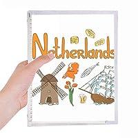 オランダの国家の象徴のランドマークのパターン 硬質プラスチックルーズリーフノートノート