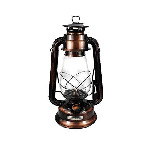 Lantaarns retro klassieke draagbare kerosine kroonluchter camp dimbare kerosine lont draagbare olielamp outdoor camping licht duurzame lantaarns