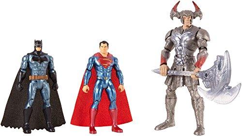 Justice League- Pack de 3 muñecos Batman, Superman y Steppenwolf, (Mattel FGG57)