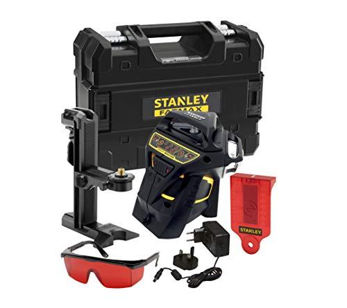Stanley Fatmax Mulitlinienlaser (3x 360° Linienlaser, roter Diode, selbstnivellierend, Laserklasse 2, magnetgedämpftes Pendel, zur Verwendung mit Empfänger) FMHT1-77357