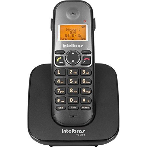 Telefone sem Fio Digital, intelbras, TS 5120, Preto