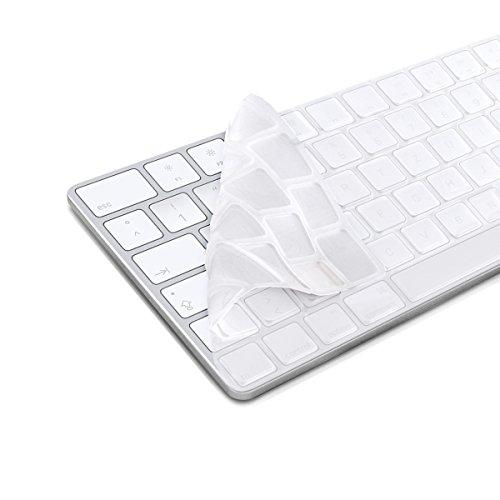 kwmobile Tastaturschutz kompatibel mit Apple Magic Keyboard - QWERTZ Silikon Laptop Abdeckung Transparent
