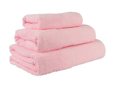 Confort Home M.T (Rosa) Juego de Toallas de baño 3 Piezas