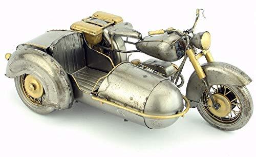 YANGHONDD Estatuas Figuritas Decoración Modelo Militar Triciclo Antiguo Motor Retro Vintage Forjado Artesanías De Metal para Decoración del Hogar O