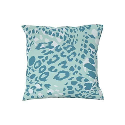 Dofeely luipaard blauw patroon hoogwaardige microvezel kussenslopen hoezen sierkussen hoezen voor slaapkamer veel patronen dierlijke skin