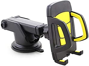 Flexible Car Dashboard Holder for Samsung Galaxy S Duos 3 - Yellow