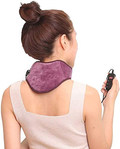 FYHpet Infrared Heating Neck Brace, Neck Support Wrap Electric Cervical Belt Hot Compress Massage USB Heated Pad for Neck Pain, Injury, Stiff, Fatigue