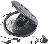 auvisio CD Spieler: Tragbarer CD-Player mit Ohrhörern, Bluetooth und Anti-Shock-Funktion (Portabler CD Player)