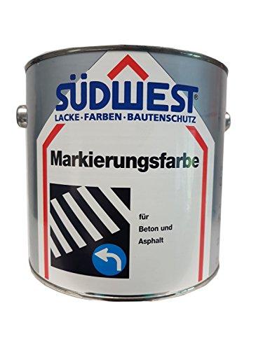 SÜDWEST K 26 - Pintura para hormigón y asfalto (0,75 L), color blanco mate