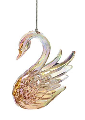 Party Explosions Mystical Swan Iridescent Pink Hanging Ornament