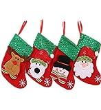 llv Calcetines de Navidad Calcetines de Navidad Bolsa de Regalo Colgante de Niños Bolsa de Dulces de dibujos animados Pequeños Calcetines Bolsa de Regalo Accesorios