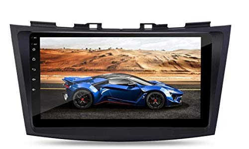 Auto Snap 9 Inch Full HD 1080 Touch Screen Double Din Player Android 10.1 Gorilla Glass IPS Display Car Stereo with GPS/Wi-Fi/Navigation/Mirror Link Compatible for Swift 2012 to 2017