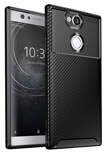 Case Collection Brushed Carbon Fiber Back Design Cover for Sony Xperia XA2 Case Slim-Fit Shock Absorption Anti Scratch Protective TPU Bumper for Sony Xperia XA2 Phone Case