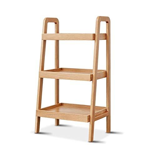 Tavolino da Salotto Tavolino da Caffè Tavolo terminale 3 livelli Tavolino in legno Tavolino in rovere tavolino con ripiano di stoccaggio divano armadio moderno angolo comodino per la casa soggiorno uf