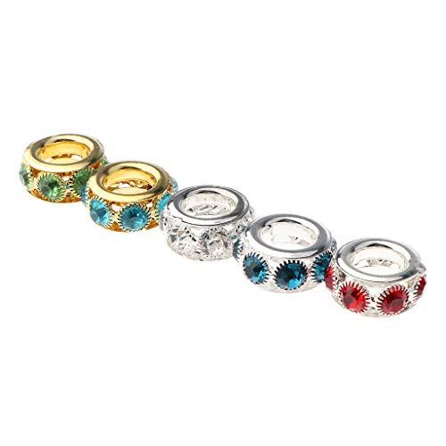 harayaa 5 Piezas de Metal Dreadlocks Beads Pelo Colgantes Trenzado Joyería de Bricolaje