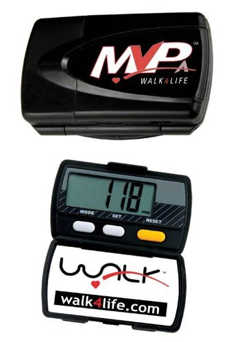 Walk 4 Life 13004A MVPA Digital Pedometer, Black