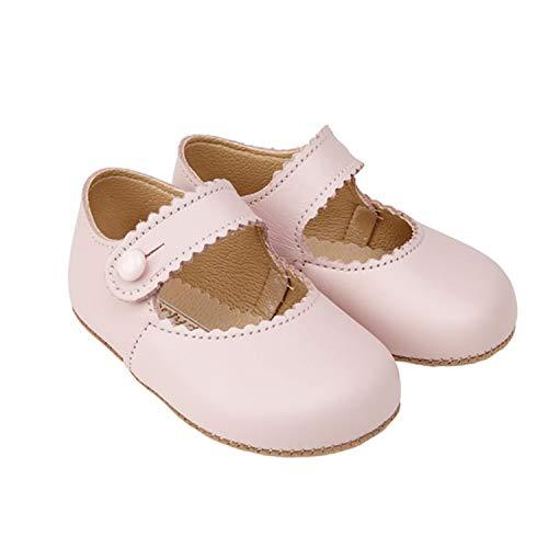 Early Days Emma Pre Walker Bar Schuh Leder Kinderwagen Babyschuhe, hergestellt in England, Pink - rose - Größe: 17 EU