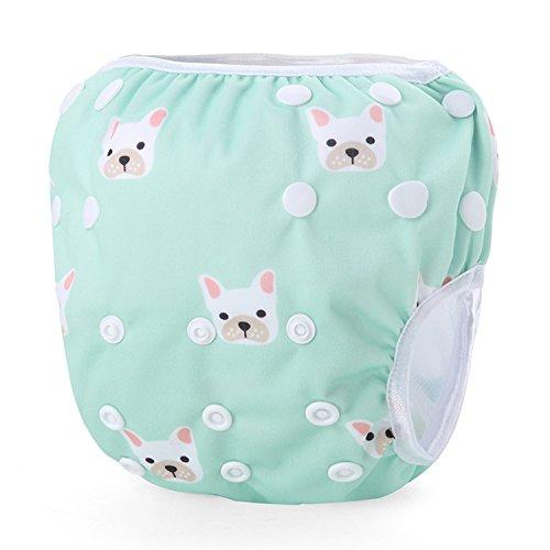 mejores Pañales bañadores de tela Storeofbaby Pañales de baño reutilizables para bebés Trajes de baño impermeables ajustables 0-3 años