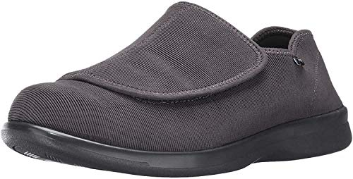 Propet Men's Cush N Foot Slipper, Slate Corduroy, 10.5 3E US
