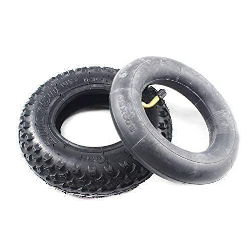 Neumáticos de amortiguación para patinetes eléctricos 200X50 (8 pulgadas) Neumático apto para patinetes eléctricos de gas y patinetes eléctricos (tubo interior incluido) Rueda para silla de ruedas